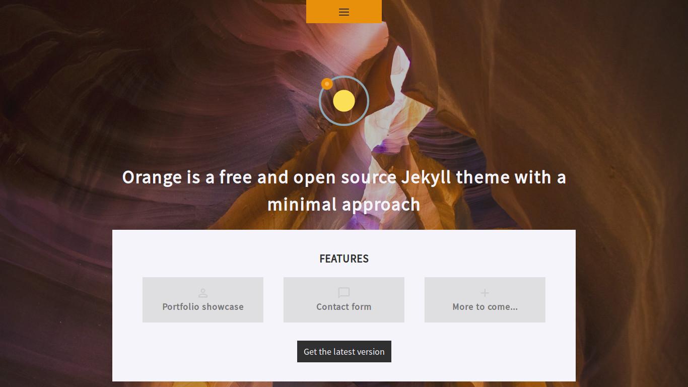 Orange   ThemeJekyll - A gallery of Jekyll themes